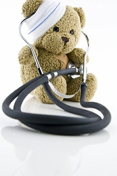 Teddybear with stethoscope